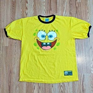 SpongeBob SquarePants Yellow Ringer T-Shirt